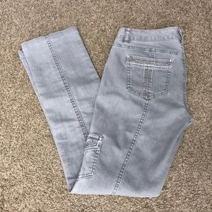 💕Like new WHBM grey military style skinny jeans💕